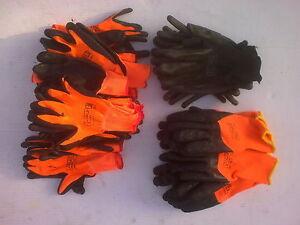 24 Pairs work gloves selection light medium & heavy duty builders, gardeners etc