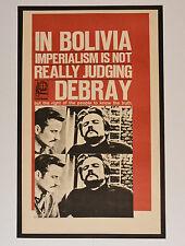 1967 Original Cuba Political Poster.Cold War Graphics Propaganda.Debray.Bolivia