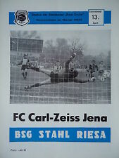 Programm 1984/85 BSG Stahl Riesa - Carl Zeiss Jena