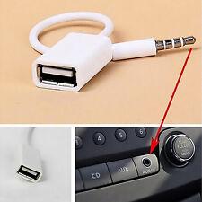 Auto Car MP3 3.5mm Male AUX Audio Plug Jack To USB 2.0 Female Converter Cable