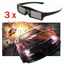 3x 3D Glasses Active for DLP Projector Optoma HD243X Acer ViewSonic JmGo Vivitek