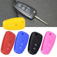 Silicone Flip Key Cover Remote Case Fob For Ford Focus MK3 Mondeo Fiesta Kuga