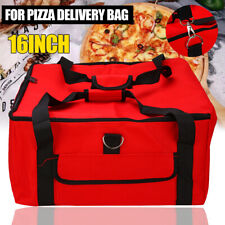 """Pizza Food Delivery Bag Red Thermal Insulated Nylon holds 16"""" Pizzas Pies Us"""