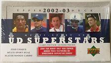 2002-03 Upper Deck MultiSport UD Superstars Box Football Basketball Baseball