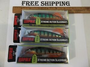 LOT OF 3 RAPALA X-Rap XR10-P PERCH COLOR JERKBAIT FISHING LURE TACKLE BOX FIND