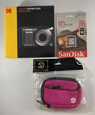 KODAK PIXPRO FZ53 Kid Friendly Zoom Digital Point Shoot Camera, Red #FZ53 Bundle