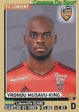 M18 YRONDU MUSAVU-KING # GABON FC.LORIENT UPDATE STICKER PANINI FOOT 2016