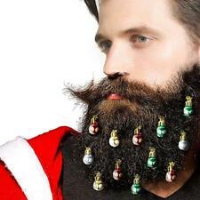 2CM Beard Baubles Ornaments 9 Pcs Colorful Christmas Facial Hair Ball Bulb Clip
