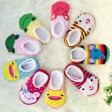 5pares calcetines bebe nino antideslizante animal lindo por 6-18 meses baby sock