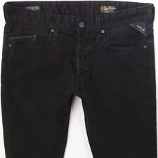 Mens Replay M983 WAITOM Regular Slim Black Jeans W32 L34