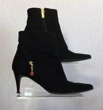 Mario Cerutti Ladies Black Suede 60s Retro Ankle Boots UK Size 4.5 EU 37.5