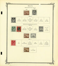 Malta Mostly Mint 1800s to 1960s Stamp Collection