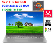 "2020 ASUS 15.6"" FHD VivoBook AMD Ryzen 5 3500U,Up to 3.7 GHz, 20GB RAM &1TB SSD"