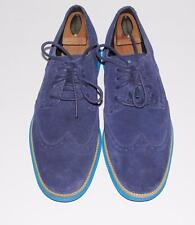 COLE HAAN~$198 *LUNAR-GRAND ZERO* SUEDE LEATHER~CASUAL WINGTIP OXFORD SHOES~10