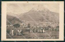 Trento Fiera di Primiero Conca di Garibaldi cartolina QT4185