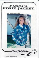"1993 UNCUT Fun Fabrics Patchwork Sewing Pattern ""Carol's Posie Jacket"" S-M-L"