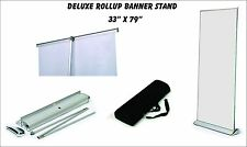 """Deluxe Retractable Roll Up Banner Stand (Display), 33"""" x 79'' w/ Free Ship"""