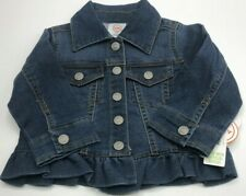 Baby  Toddler Girls Ruffle Denim Jacket Super Cute Brand New