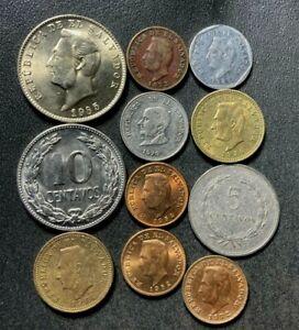 Old El Salvador Coin Lot - 1956-Present - 11 Uncommon Coins - Lot #S16