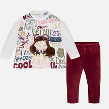 Mayoral Infant Girls Printed Leggings Set in Raspberry (2797) aged 18-36 Months