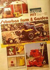 Montgomery Ward 1977 Farm Catalog FULL COLOR Garden Tractor 160pg Gilson Tiller