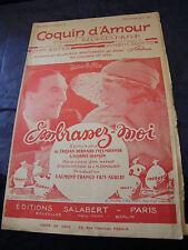 Partitur Coquin d'amour Milton Tristan Bernard 1932 Music -blatt