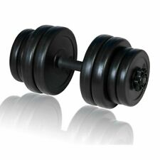 vidaXL Dumbbell Bar Plastic Covered Weights Set Gym Exercise Fitness Plate