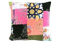Multicolour patchwork velvet cushion cover Boho Hippie Cushion Decorative Pillow