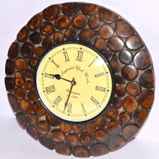 Unique Design Wooden 12 Inche Wall Clock for Wall Home Vintage Decor Gift Item