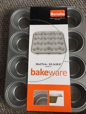 German ,,Berndes Metal Bakeware - Non-stick Muffin/Cupcake Baking Trays 12 Holes