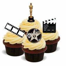 HOLLYWOOD STYLE MIX Film Camera Action 12 STANDUPS Edible Cake Toppers Birthday