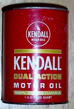 VINTAGE KENDALL DUAL ACTION MOTOR OIL 20-20W Unopened Full Can 100% PENNSYLVANIA