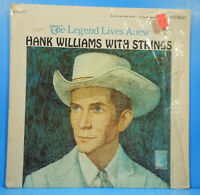 HANK WILLIAMS WITH STRINGS LP 1966 ORIGINAL SHRINK NICE CONDITION! VG/VG+!!