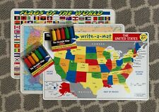 Melissa & Doug Dry Erase Learning Mats/Placemats & Straight Edge Crayons