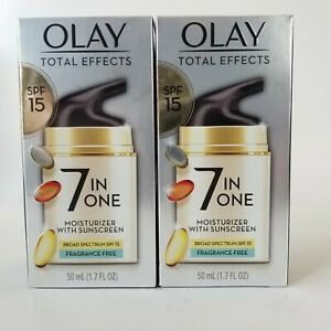 OLAY Total Effects 7-in-1 Moisturizer SPF 15 Fragrance Free 1.7 oz Exp 9/21 Lot