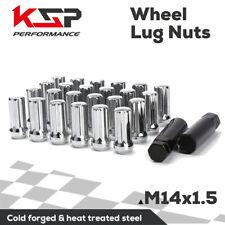 24 Chrome Closed End Lug Nuts M14x1.5 7 Spline Socket Key for Silverado sierra