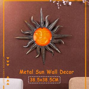 Iron Sun Wall Decoration Art Garden Ornaments Retro Home Hangings Copper Decor