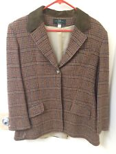 Orvis Wool Blazer With Suede Collar Womens Size 12