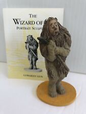 """FRANKLIN MINT WIZARD OF OZ FIGURE...."""" COWARDLY LION """"...WITH CARD"""