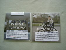 DARKSTAR job lot of 2 promo CD album/single Foam Island Stoke The Fire