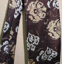 "One Jacques Pierre Neck Tie/Necktie Vintage Brown 54"" x 3.75"" 60's or 70's"