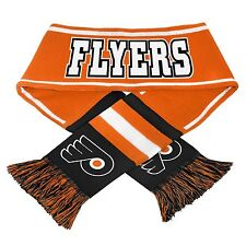 "Philadelphia Flyers Scarf Knit Winter Neck NEW NHL 65"" Wordmark Team Logo - 2013"