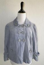 Anthropologie Taikonhu Dusty Blue Corduroy Jacket Baby Doll Lots of Buttons 4