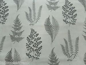 Sanderson Curtain Fabric ANGEL FERNS 5.25m Charcoal Cotton Leaf Design 525cm