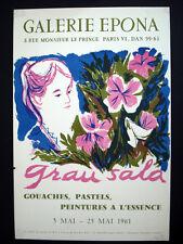 Grau Sala Galerie Epona Vintage Lithograph Poster inv1007