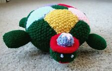 New Soft Handmade Knit Colorful Stuffed Green Baby Turtle Toy Animal