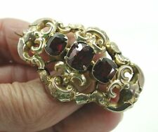Beautiful Antique Gold Pinchbeck And Almandine Garnet Brooch