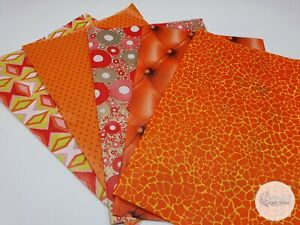 Decopatch Paper, Decoupage Paper, ORANGE Collection Pack **5x Full Size Sheets**