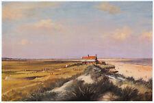 Brancaster W. Norfolk links golfing J. Barrow print in 11 x 14 inch mount SUPERB