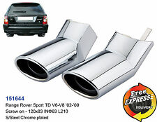Exhaust tips tailpipe trims Range Rover Sport TD V6-V8 '02-'09 S/Steel